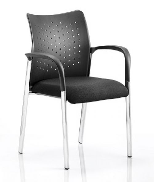 Academy Visitor Chair Black With Arms BR000010