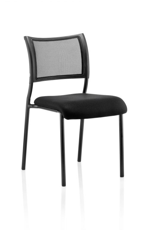 Brunswick Visitor Chair Black Fabric Without Arms Black Frame