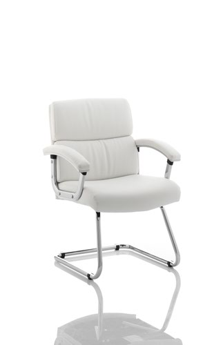 Desire Cantilever Chair White With Arms BR000034