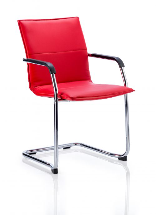 Echo Cantilever Chair Red Soft Bonded Leather BR000037