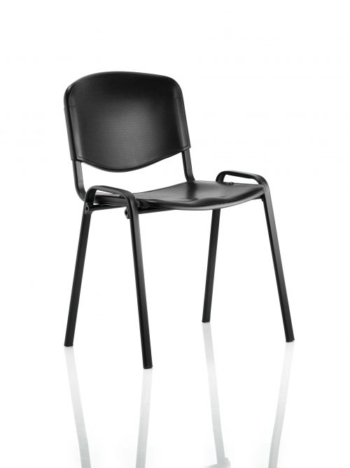 ISO Stacking Chair Black Poly Black Frame BR000056
