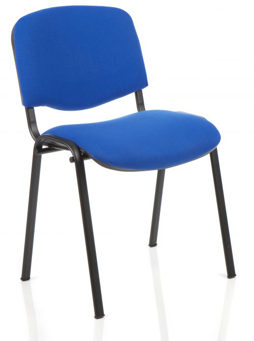 ISO Stacking Chair Blue Fabric Black Frame BR000057