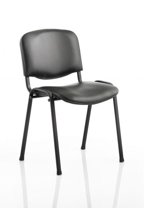 ISO Stacking Chair Black Vinyl Black Frame BR000062