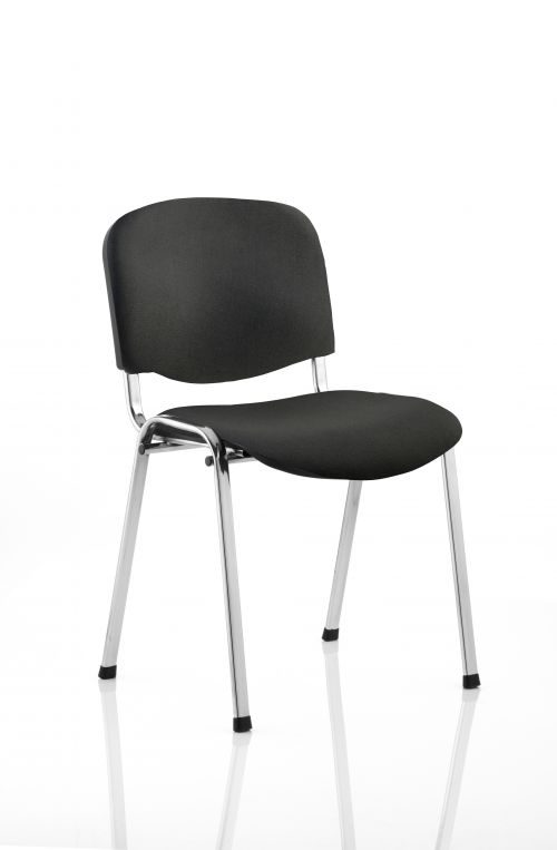 ISO Stacking Chair Black Fabric Chrome Frame BR000067