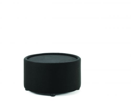Neo Round Table Black Fabric
