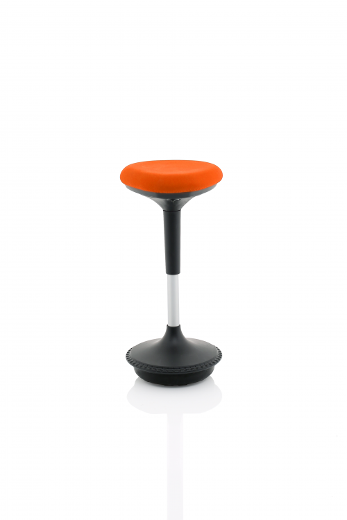 Sitall Deluxe Visitor Stool Mandarin Fabric Seat