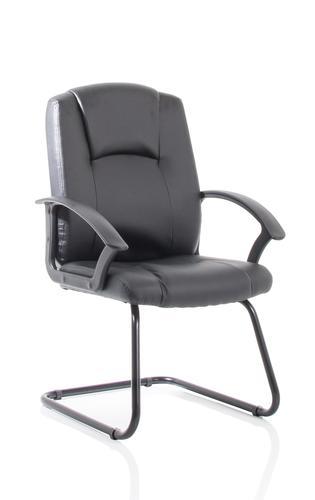 Bella Black Leather Cantilever with Black Frame BR000300
