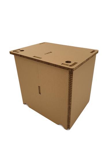 5 Star Office Eco Friendly Cardboard Easy Build Home Office Desk 800x600x730mm ECO00001