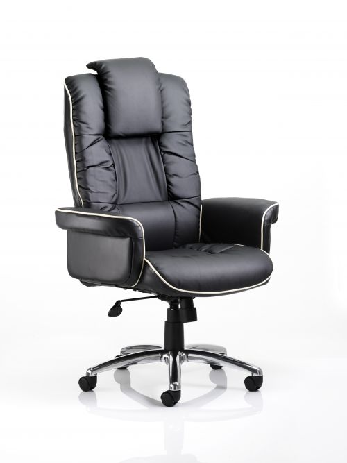 Chelsea Executive Chair Black Soft Bonded Leather