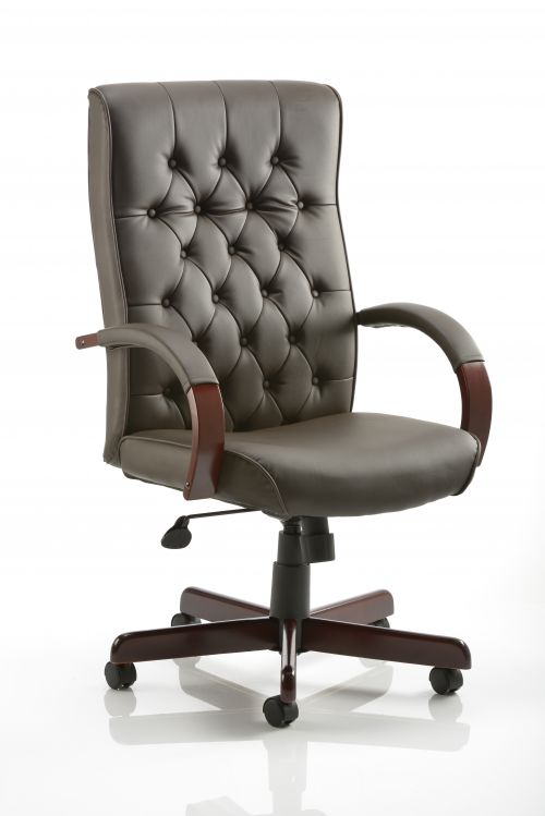 Chesterfield Executive Chair Brown Leather