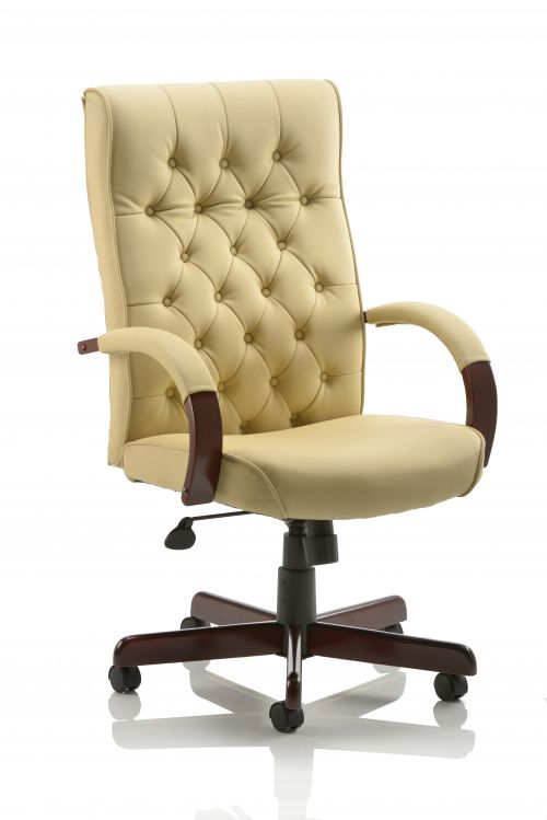 Chesterfield Executive Chair Cream Leather