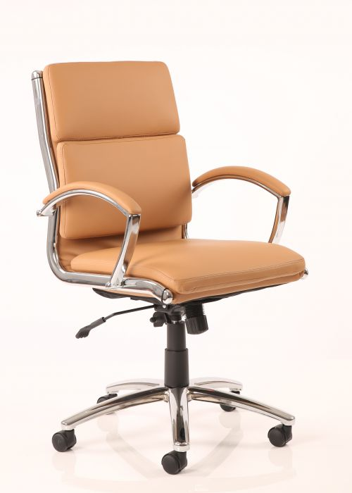 Classic Executive Chair Medium Back Tan EX000011