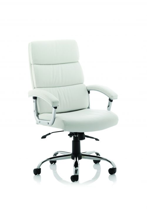 Desire High Executive Chair White With Arms EX000020