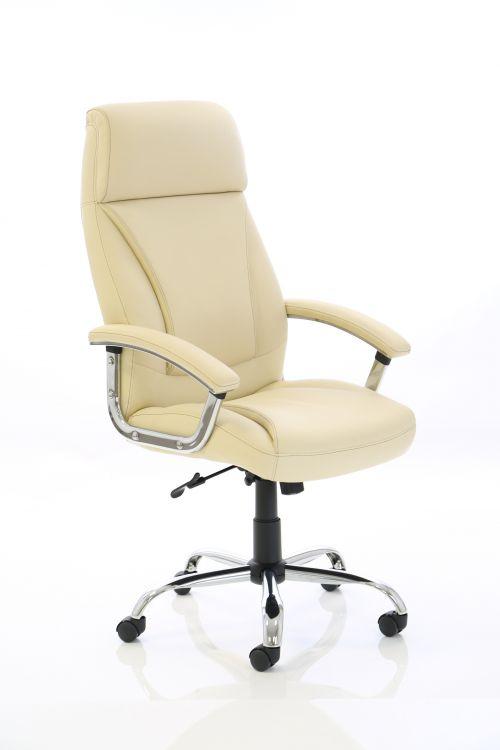 Penza Executive Cream Leather Chair EX000186