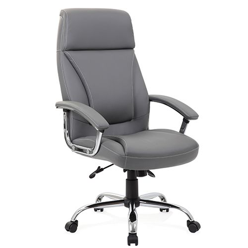 Kansas Grey Faux Leather Chair