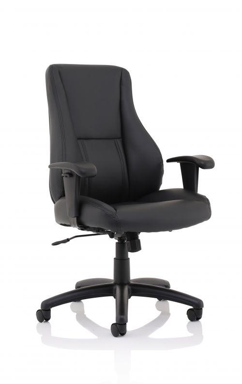 Winsor Black Leather Chair No Headrest