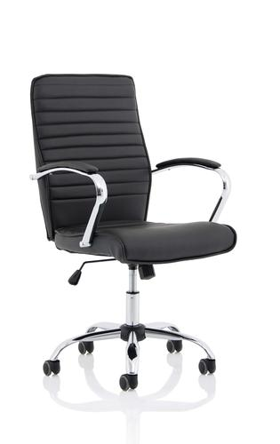 Abbey Black Leather Look Chair EX000225