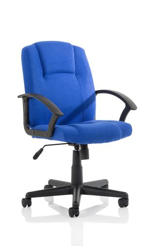 Bella Executive Managers Chair Blue Fabric EX000247