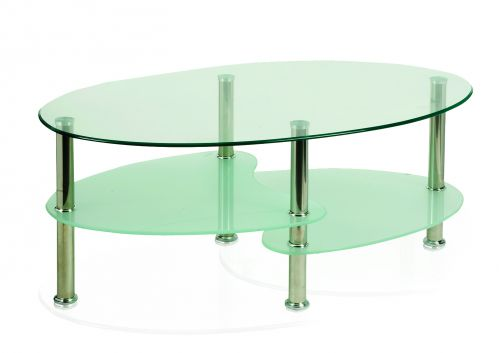 Berlin Coffee Table With Chrome Legs And Shelves FR000001
