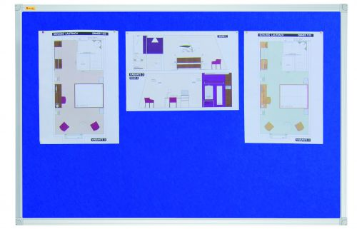 Felt Pin Board X-tra!Line 120x120cm Blue