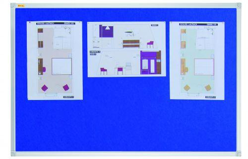 Felt Pin Board X-tra!Line 180x120cm Blue