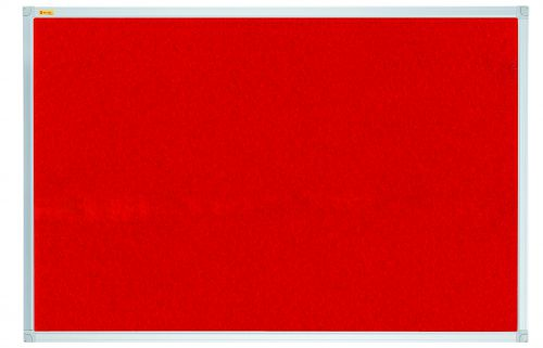 Felt Pin Board X-tra!Line 240x120cm Red