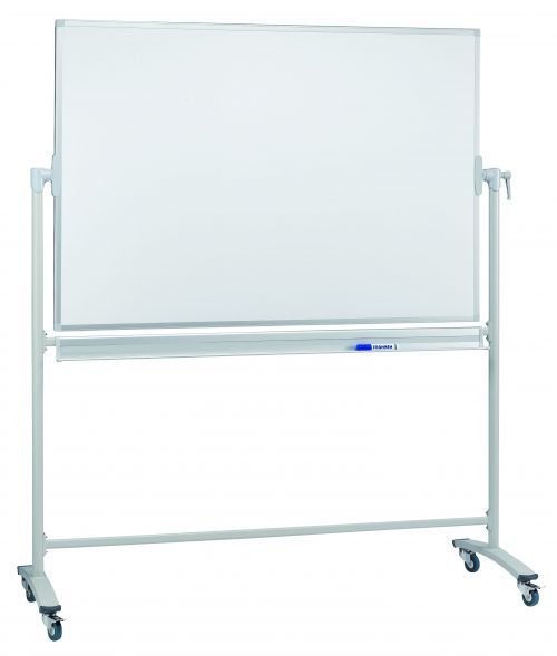Revolving Whiteboard On Mobile Stand 150 x 100cm Lacquered Steel
