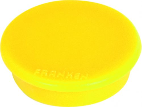 Tacking Magnet Size 24mm Adhesive Force 300g Yellow 10 Pieces