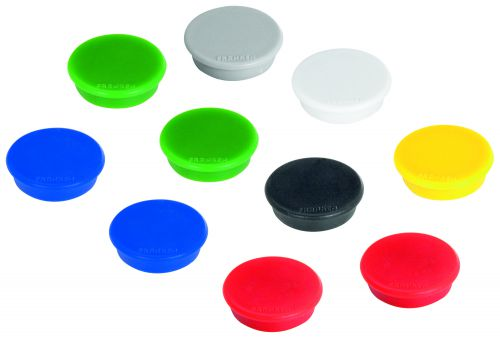 Tacking Magnet Size 24mm Adhesive Force 300g Various Colours 10 Pieces