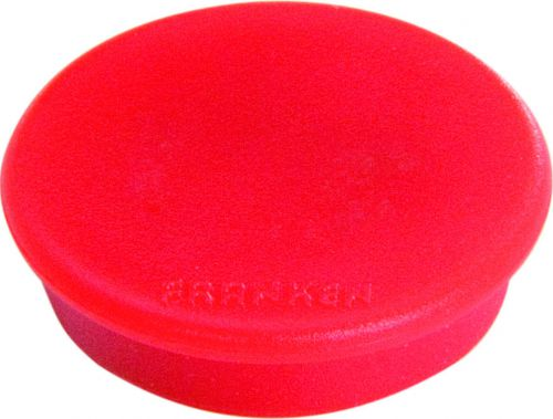Tacking Magnet Size 38mm Adhesive Force 1500g Red 10 Pieces