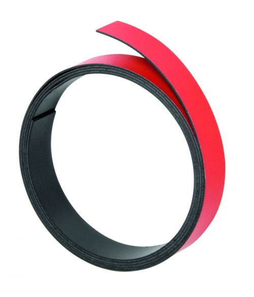 Magnetic Strips 100cm x 10mm Thickness 1mm Red