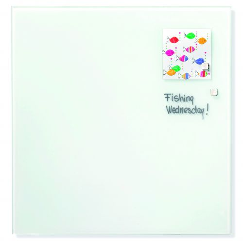 Magnetic Glass Board 120x120cm White
