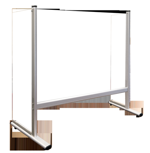 Counter and Desk Protection Screen with side panels, acrylic glass, 100 x 65 cm