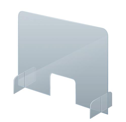 Counter & Desk Protection Screen, Acrylic Glass, 50 x 85 cm