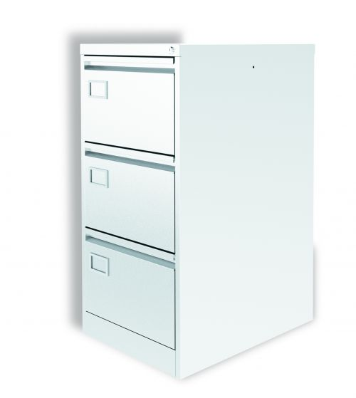 Graviti Plus Contract 3 drawer Filing Cabinet Chalky White