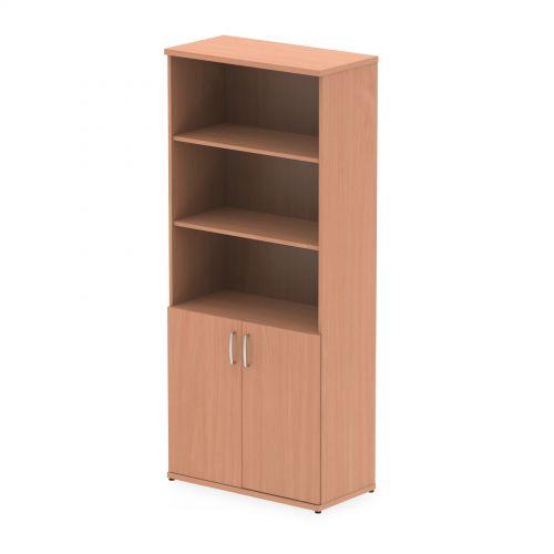 Impulse 2000mm Open Shelves Cupboard Beech I000047