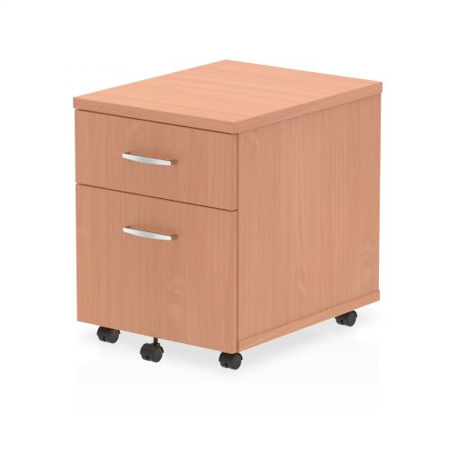 Impulse Mobile Pedestal 2 Drawer Beech