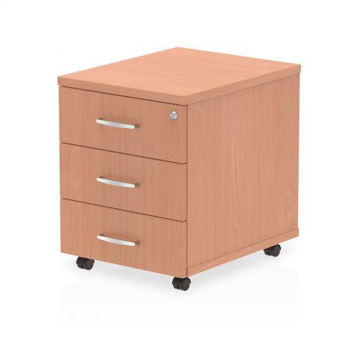 Impulse 3 Drawer Mobile Pedestal Beech I000065