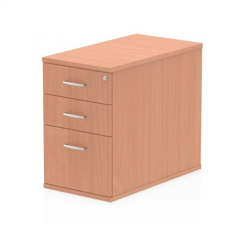 Impulse 800 Desk High Pedestal 3 Drawer Beech