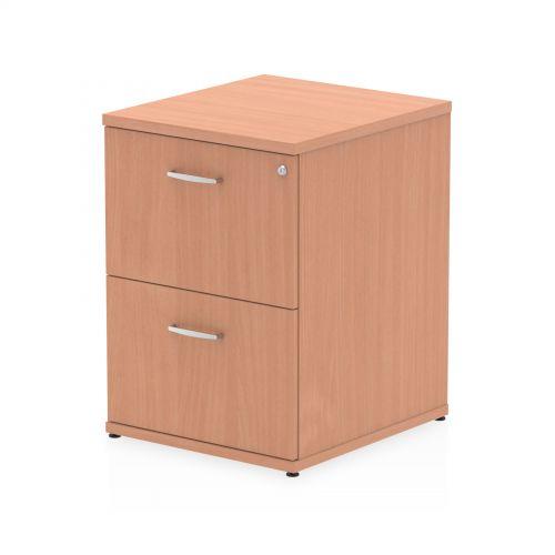Impulse 2 Drawer Filing Cabinet Beech I000072