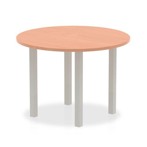 Impulse Round Meeting Table 1000 Beech