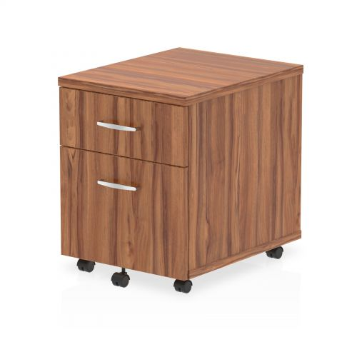 Impulse Mobile Pedestal 2 Drawer Walnut