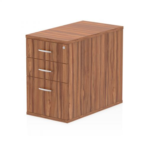 Impulse 800 Desk High Pedestal 3 Drawer Walnut