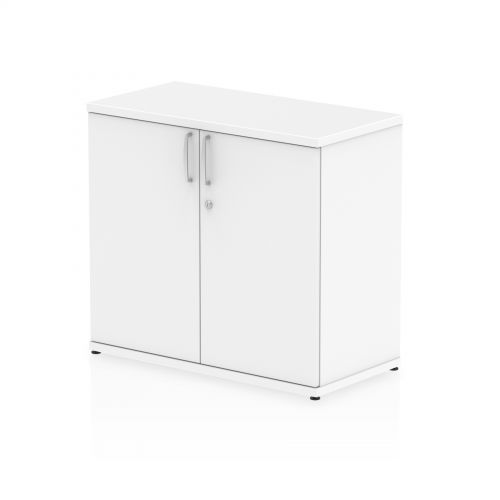 Impulse 600mm deep Desk High Cupboard White