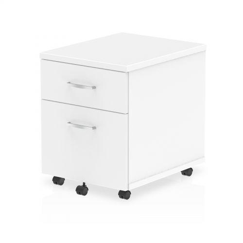 Impulse 2 Drawer Mobile Pedestal White I000184