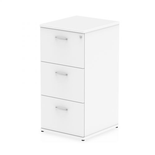 Impulse Filing Cabinet 3 Drawer White