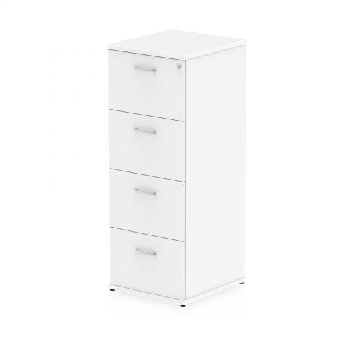 Impulse 4 Drawer Filing Cabinet White I000194