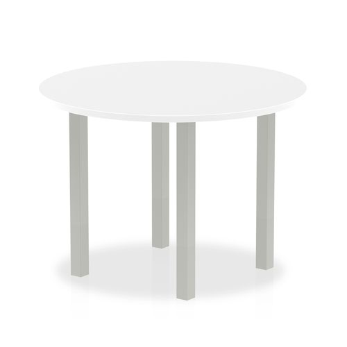 Impulse Round Meeting Table 1000 White