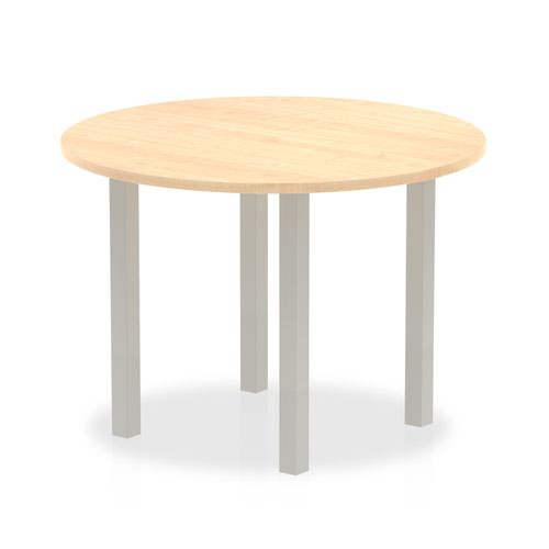 Impulse Round Meeting Table 1000 Maple