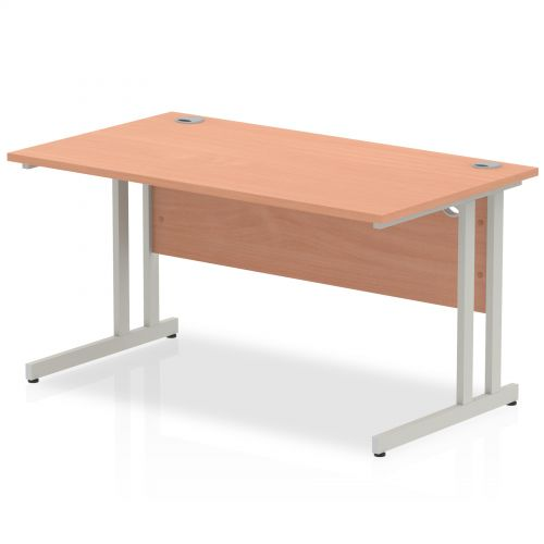 Impulse Cantilever 1400 Rectangle Desk Beech
